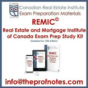 REMIC Mortgage Broker Exam Prep Textbook, Exam Questions & Study Kit Mortgage Institute of Canada