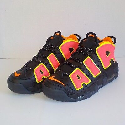 huge discount a71f7 79291 Nike AIR MORE UPTEMPO Basketball Shoes BLACK HOT PUNCH 917593 002 Woman  Size 7.5