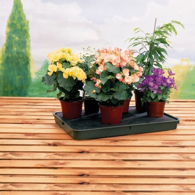 NEW 56cm x 40cm LARGE 8 LITRE PLASTIC SELF WATERING PLANT POT TRAY KIT