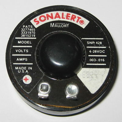 Mallory 42mm Sonalert Buzzer 2900 Hz 64 To 76 Dba 4 To 28 V Dc Snp428
