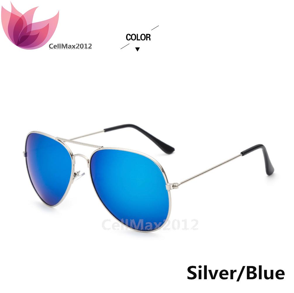 Silver / Blue Lens