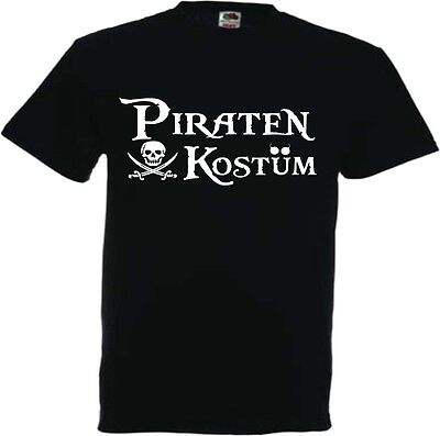 Piraten Kostüm T Shirt Pirat Faschingskostüm Paarkostüm Gruppenkostüm Familien (Gruppe Familie Kostüme)