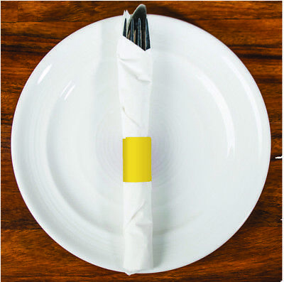 Yellow Paper (500 Raise® Paper Napkin Band, Yellow, 4-1/4