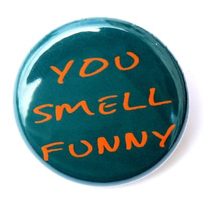 """YOU SMELL FUNNY - Novelty Fun Button Pinback Badge 1"""""""