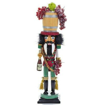"[Kurt Adler Hollywood Nutcracker - Wine Barrel Hat Christmas Nutcracker 19"" New </Title]"