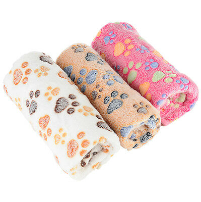 3PCS Soft Warm Pet Fleece Blanket Bed Mat Pad Cover Cushion For Dog Cat Puppy