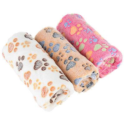 Lot 3 Warm Soft Fleece Puppy Pet Blanket Dog Cat Bed Pillow Mat Cover 76X52CM