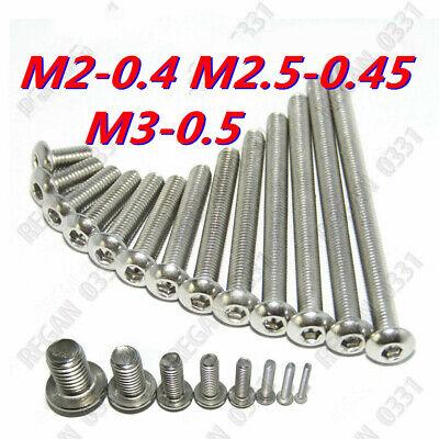 M2 M2.5 M3 Stainless Steel Allen Hex Socket Button Head Screws Bolt Iso7380