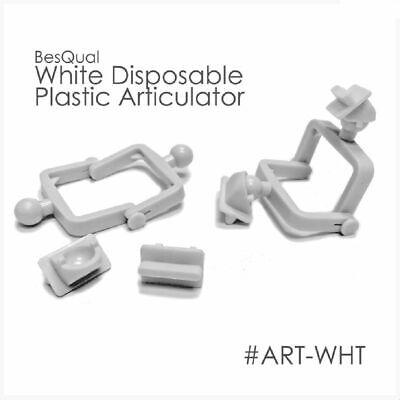 Dental Meta Lab Disposable Plastic Articulator White - 100 Pcs