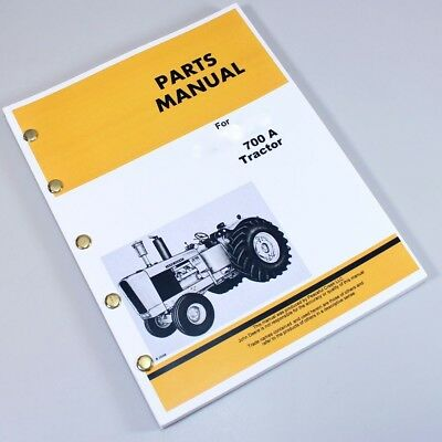 Parts Manual For John Deere 700a Tractor Catalog Exploded Views Assembly