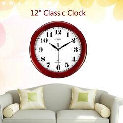 Wine Red Clock Classic 12 Atomic Radio Controlled Wall Clock BGW612-YG Home USA