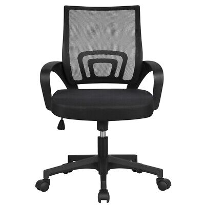 Black Executive Ergonomic Mesh Computer Office Desk Task Chair Comfortable Wow