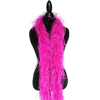 Fuchsia 2 ply Ostrich Feather Boa High Quality Cynthia's Feathers, NEW!