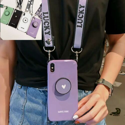 Neck Strap Lanyard Shoulder Holder Stand Case Cover For ipho