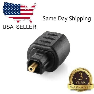 Optical 3.5mm Female Mini Jack Plug To Digital Toslink Male Audio (Mini Jack Plug)
