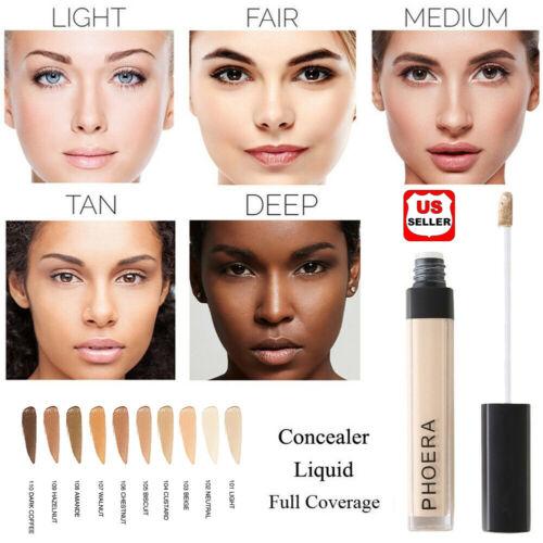 PHOERA Makeup Concealer Liquid Moisturizer Conceal HD High Definition Foundation Face