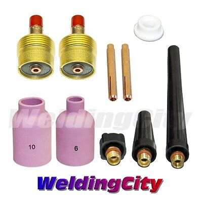 Tig Welding Large Gas Lens Accessory Kit 18 For Torch 92025 T45 Us Seller