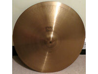 "Paiste 2002 20"" Ride cymbal 1980 vintage Black Label logo"