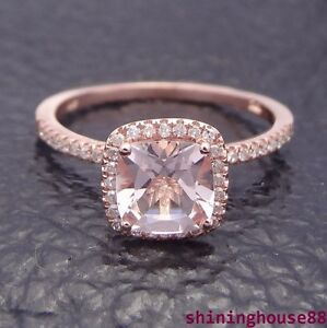 10K-Rose-Gold-1-1ct-Morganite-Pave-Diamond-Claw-Prongs-Engagement-Ring