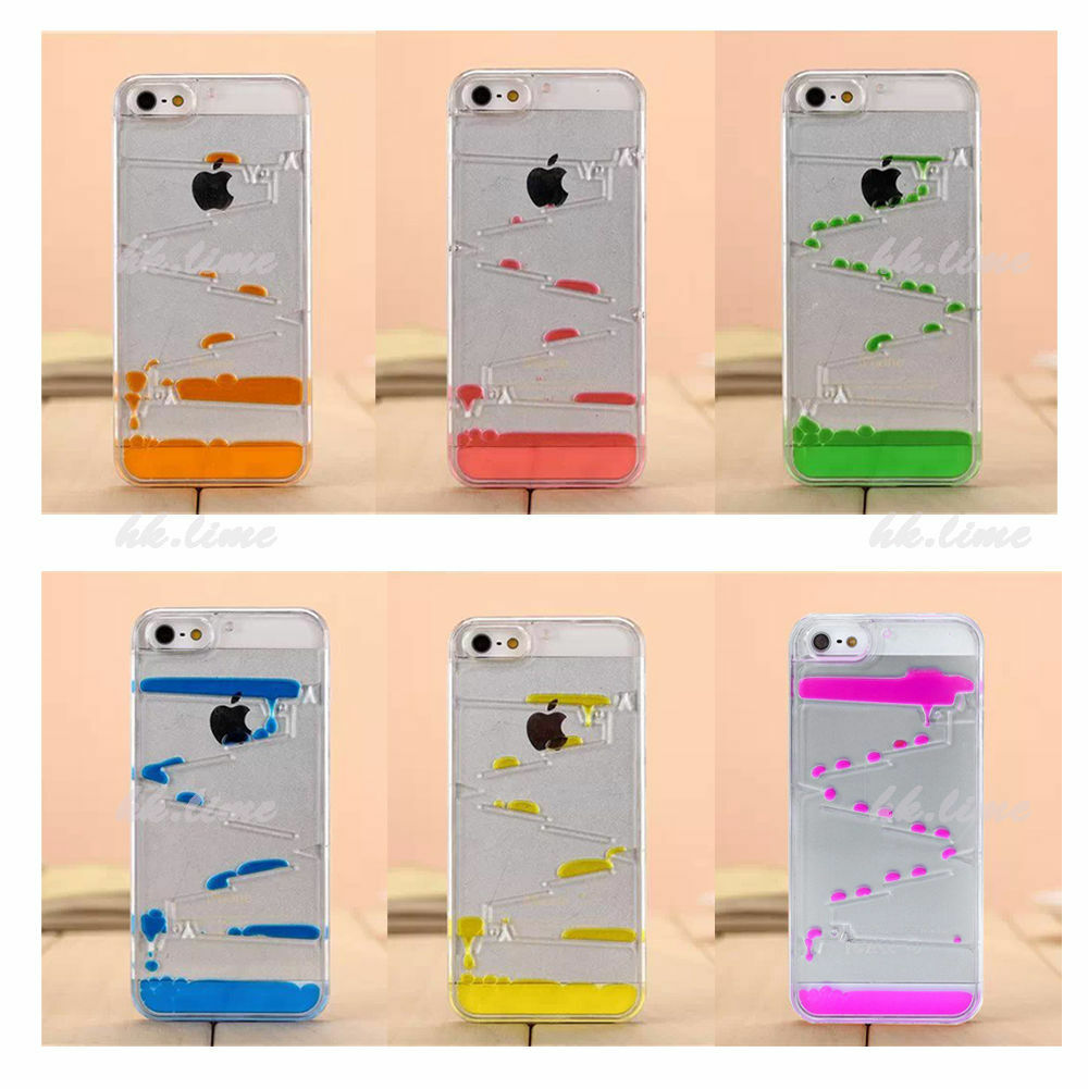 3d drop clear liquid dynamic water case maze cover for for Grove iphone 4 case
