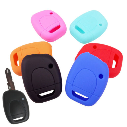 Black Silicone Case Cover For Renault Modus Master Twingo Kangoo Key 2 Buttons