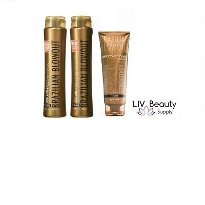 Brazilian Blowout Shampoo Conditioner and Masque TRIO NEW!!