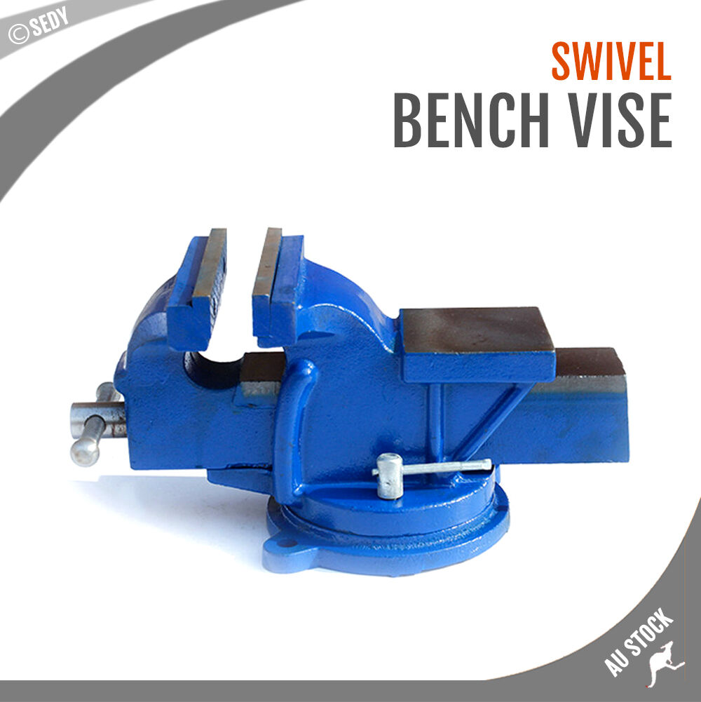 3 X 3 Super Heavy Duty Bench Vise Swivel Clamp Table Base Grip Capacity