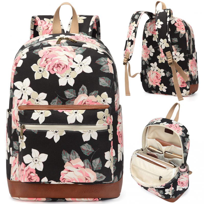 Kenox Girl's School Rucksack College Bookbag Lady Travel Bac