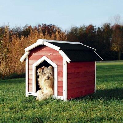 Trixie natura Hundehütte Country S-M: 71 x 69 x 75 cm, rot/weiß