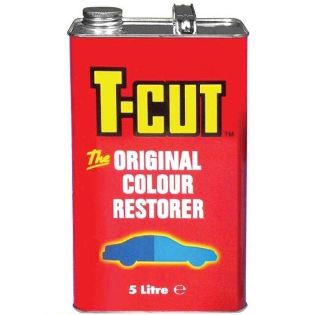 T-Cut 5 Litre Metal Tin 5ltr Colour Restorer/Scratch Remover 5l TCO005