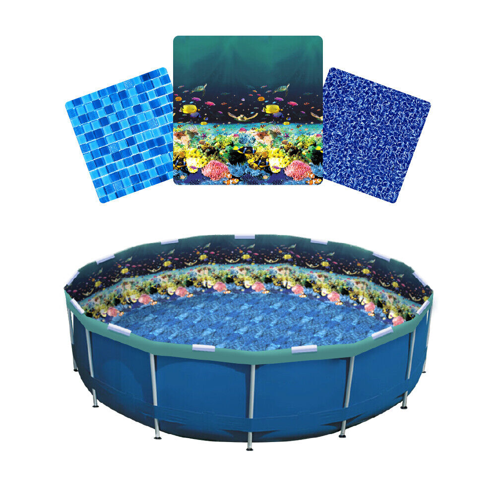 LinerWorld – Relining Pool Liner Kit for Intex and Tube Metal Frame Pools Home & Garden
