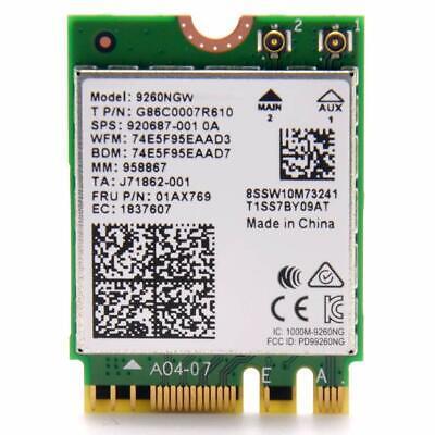 Intel Wireless-AC 9260 802.11ac Bluetooth 5.0 M.2 WiFi/Bluetooth Adapter 9260NGW