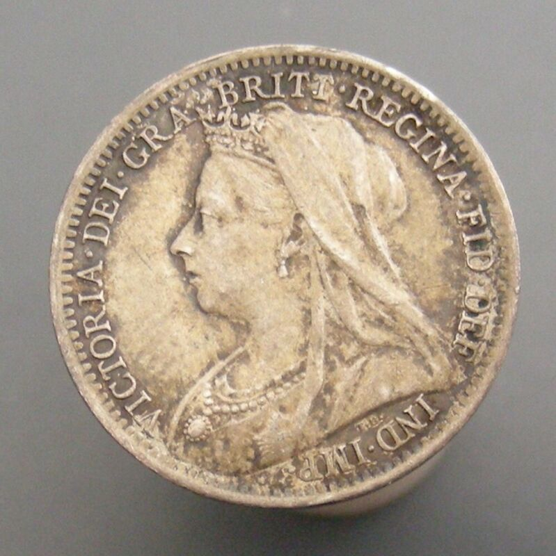 Great Britain 1899 Victoria Silver 3 Pence Nice High Grade Coin