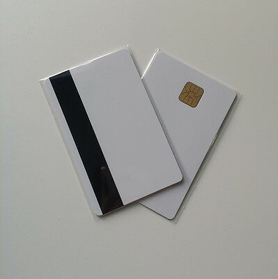 40 Csf Pvc Smart Ic Card With 4428 Chiphico Magnetic Strip For Inkjet Printers