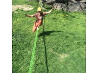 Macaco Slackline 26m 26 meters Long (50mm Wide) Incl Ratchet, Bag and How to Slackline Booklet New