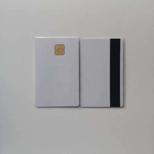 10 Blank Smart Card With Sle4428 Chip Magnetic Strip Hico 3 Track Therma PVC