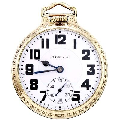 Old Hamilton 992E Railroad Pocket Watch CA1930 | Bar over Crown Model
