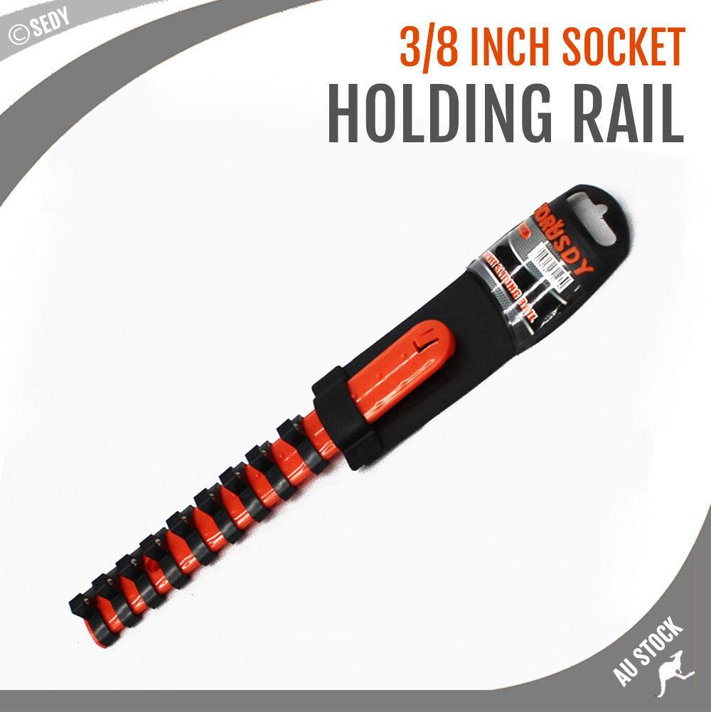 7 rails socket organiser 3 8 lock holder tool tray wall mount storage 94128 ebay. Black Bedroom Furniture Sets. Home Design Ideas