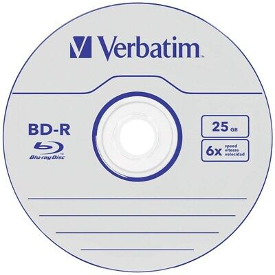 Verbatim BD-R Blu-Ray 50er Spindel 25GB (Rohling)