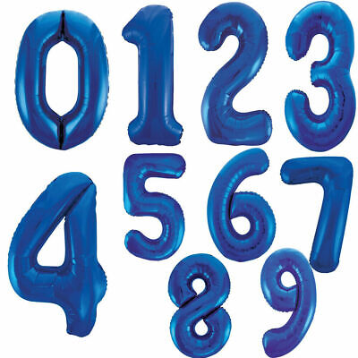 """34 """" Foil Balloons Number Letters 0-9 Blue Birthdays Weddings Party Decoration"""
