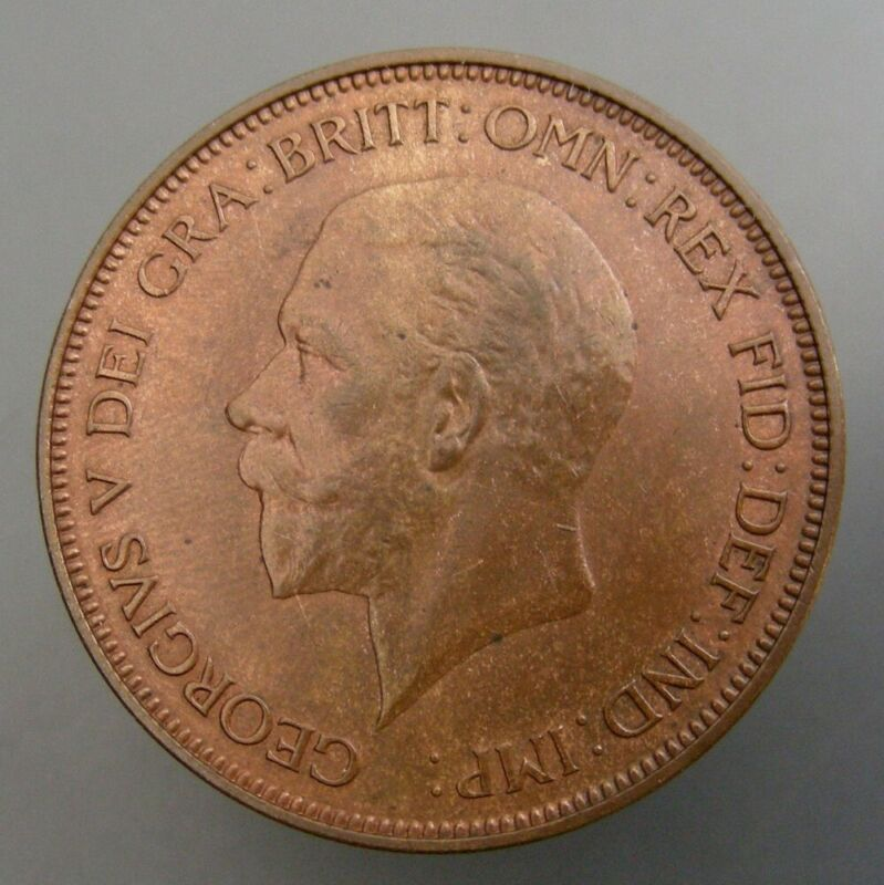 Great Britain 1935 One Penny Red & Brown UNC