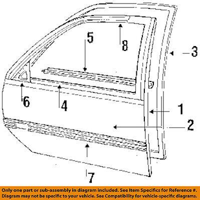 Chevrolet GM OEM 87-96 Beretta Door-Applique Window Trim Left 10074041