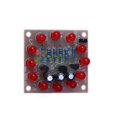 Red Circular Electronic Led Flash Circuit Light Diy Kit 12pcs Production