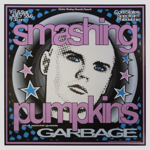 Lynne Porterfield - 1996 - Smashing Pumpkins Concert Poster W/ Garbage
