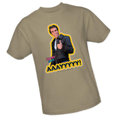 HAPPY DAYS - AAAYYYYY! Smiling Fonzie Giving Thumbs Up -- Adult Size T-Shirt Happiness Adult T-shirt
