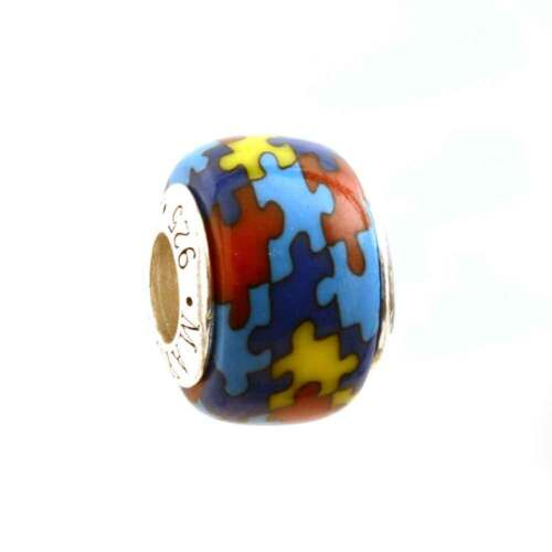 Autism Puzzle Jigsaw Awareness Bead Charm for Add-a-Bead Bracelet by MAYselect