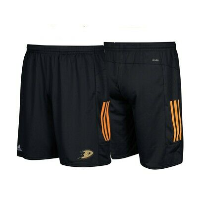 Anaheim Ducks NHL Adidas Climalite 3-Stripes Black Center Ice Shorts ()