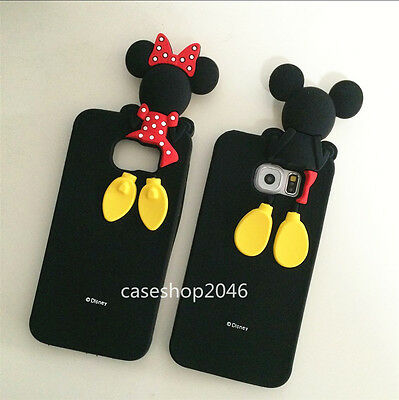 Cute Disney cartoon minnie mickey soft case cover for samsung galaxy S6 S7 edge