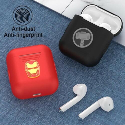 UKA Marvel Authentic Avengers Captain America 3D Shell Design Silicon Case Cover Compatible with Apple AirPods Series 1//2
