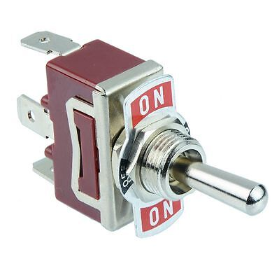 5 X On-off-on Momentary Spdt Toggle Switch 250v Ac 15a